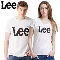 Lee 【断码】新品情侣经典版纯棉短袖T恤  夏季欧美简洁百搭