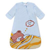 【支持礼品卡】宝宝睡袋婴儿睡袋秋冬纯棉加厚加大可脱袖拆卸小孩儿童防踢被冬季h0j