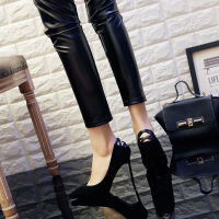 春季细跟高跟鞋女2018新款黑色韩版性感尖头百搭单鞋气质公主女鞋 黑色(跟高9厘米)