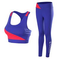 春夏瑜伽服套装女专业运动带胸垫性感跑步吸汗运动背心健身服套装