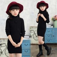 女童毛衣长款韩版针织衫童装中大童儿童打底衫