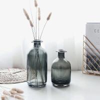 玻璃花瓶客厅家居创意装饰品摆件简约现代干花插花花器