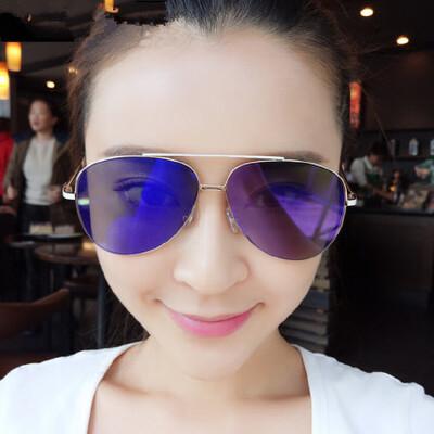 墨镜女士潮人 时尚太阳镜圆脸太阳眼镜蛤蟆眼镜 品质保证 售后无忧 支持货到付款