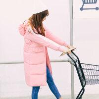 韩观冬装棉衣女中长款加厚情侣装软妹学生冬季外套过膝防寒羽绒