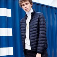 [2.5折价142.1元]唐狮冬装新款羽绒服男轻薄立领短款青少年学生时尚修身外套潮