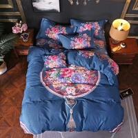 家纺2018新款家纺床上用品 传统中国风全棉印花四件套