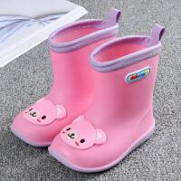 女童公主学生防滑雨靴宝宝中筒保暖套鞋水鞋儿童雨鞋