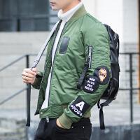 反季清仓男士修身短款帅气印花羽绒服青年学生冬季加厚立领潮外套