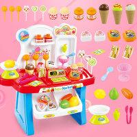 冰淇淋糖果车甜品手推车音乐灯光套装 儿童过家家厨房玩具女孩礼物
