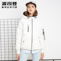 波司登(BOSIDENG)羽绒服女短款韩版加厚时尚连帽宽松舒适冬装外套潮