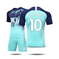 热刺第二客场球衣 18-19 凯恩10号托特纳姆队服足球服套装男定制