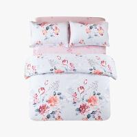 当当优品四件套高支高密纯棉双人床单款床品1.5-1.8米适用 缤纷花语