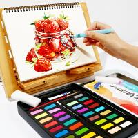 乔尔乔内24 36色固体水彩颜料套装 儿童初学者写生水粉画颜料工具