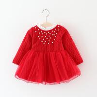 女童秋冬装裙子韩版女宝宝连衣裙婴幼儿童装0-1-2-3岁4加绒公主裙