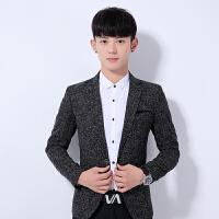 2017秋冬款上衣西服男士韩版西装时尚男装修身小西服