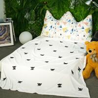 儿童卡通法莱绒毛毯夏季办公室午睡空调毯子珊瑚绒加厚毛巾被