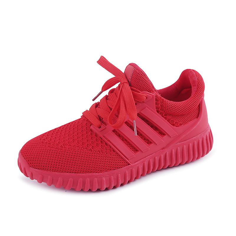 Mr.zuo新款小红鞋红色飞织布椰子鞋休闲运动跑步鞋浅口单鞋流行女鞋
