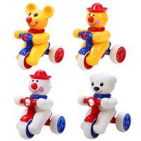 活石 回力车 玩具车婴儿玩具耐摔发条车新生儿0-1-3岁玩具 欢乐4只装