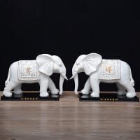 陶瓷大象摆件一对吉祥象家居客厅装饰办公室镇宅风水摆设