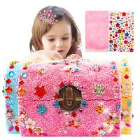 儿童彩泥水晶橡皮泥木质公主首饰盒模具套装雪花泥珍珠轻粘土