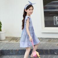 女童连衣裙夏装新款时尚韩版中大童儿童装夏短袖纯棉公主裙子