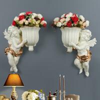 墙壁装饰挂件 欧式丘比特墙面装饰品创意壁挂客厅墙上花盆挂件电视背景墙沙发墙壁挂饰