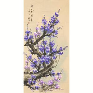 中国美术家协会会员 石川《紫气东来》136cmx68cm