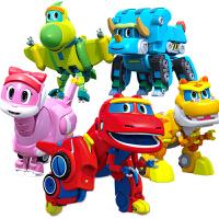 恐龙变形机器人韦斯4款全套儿童男孩棒棒龙灵动帮帮龙出动玩具