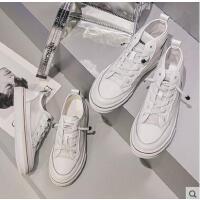 白色高帮运动鞋女潮嘻哈女鞋百搭潮款休闲透气低帮小白鞋学生