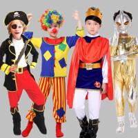 万圣节服装 男童加勒比海盗船长衣服儿童王子国王化装舞会演出服