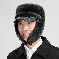 中老年人雷锋帽男冬季加厚保暖爷爷老头帽户外护耳老人棉帽子冬天