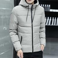 男士冬季外套青少年韩版潮流修身学生帅气冬装男款保暖加厚棉服