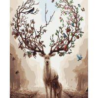 物有物语 数字油画 diy数字油画 手绘油画无框画芯客厅装饰画麋鹿