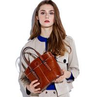 新品潮酷时尚真皮女包女牛皮包包大容量手提包