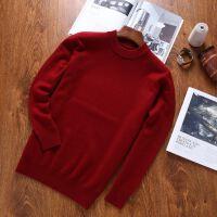 20171203023616544男士圆领羊绒衫 加厚时尚套头毛衣针织衫秋冬纯色打底衫衣裳