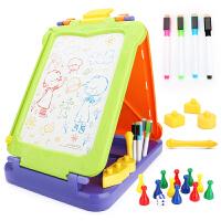 儿童绘画画板磁性彩色小孩婴幼儿宝宝涂鸦板1-2-3岁玩具 写字板笔