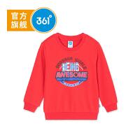 【线下同款】361度童装男童卫衣套头18秋季新款儿童衣服小童打底衫K51834301
