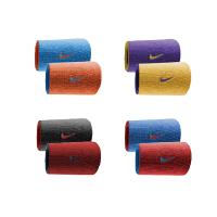 NIKE 耐克 篮球 羽毛球运动护腕 精英双面运动长护腕 (两只装)NNNB0 篮球加长护腕 汗带