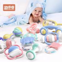 手摇铃牙胶男孩女孩益智宝宝婴儿玩具0-3-6-12个月幼儿0-1岁