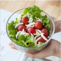 日式透明玻璃碗圆肚碗蒸蛋碗玻璃碗水果碗酸奶碗沙拉碗