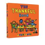 淘弟 英文原版 The Thankful Book 纸板书 纽约时报畅销书作家 Todd Parr 儿童家庭成长教育绘