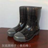 春秋男士马丁雨靴中筒加绒时尚户外登山钓鱼防滑防水耐磨雨鞋胶鞋