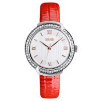 女士防水石英手表皮带时装表时尚小巧潮流水钻简约个性腕表