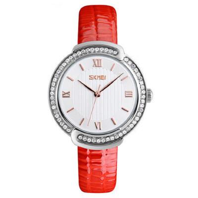 女士防水石英手表皮带时装表时尚小巧潮流水钻简约个性腕表 品质保证 售后无忧 支持货到付款