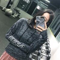 秋冬款健身上衣女宽松长袖t恤短款连帽跑步运动罩衫瑜伽服