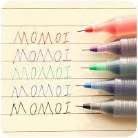 百乐P500日本考试中性笔黑色 pilot碳素彩色水笔直液式走珠笔红笔