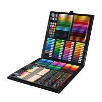 儿童画笔绘画套装画画工具小学生文具学习用品美术蜡笔水彩笔礼物 黑色 258实用套装