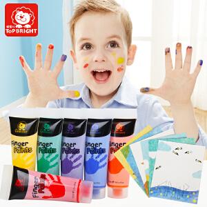 【跨店2件5折】特宝儿  早教益智6色手指画绘画儿童玩具儿童手指画玩具6色