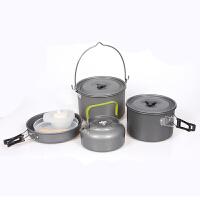 户外野营套锅 野炊锅 带茶壶 便携户外装备 野外用品套锅