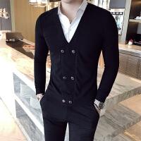 男士冬季保暖衬衫男长袖修身韩版长袖衬衫潮流帅气假两件寸衫潮